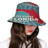 Sombrero de cubo de poliéster, tipografía romántica retro con colorido corazón de piedras preciosas y fondo de estrellas, gorra de ala ancha