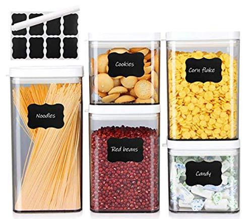 Xingsky Vorratsdosen,Frischhaltedosen Set 5 Stück,Vorratsbehälter mit Deckel für Küche Mehl, Müsli, Nudeln, Pasta,Getreide Nüsse Trockenvorräte