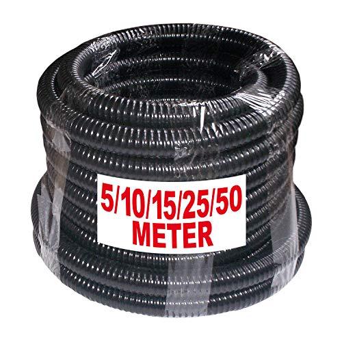 AMUR Saug-/Druckschlauch Saugschlauch Wasserschlauch Druckschlauch Schlauch 1 Zoll für Hauswasserwerk Kreiselpumpe Jetpumpe 5, 10,15, 25, 50m - Auswahl (Rolle 5m)