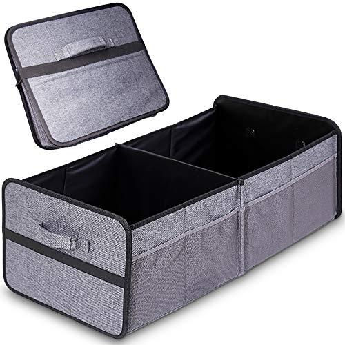 BEYAOBN Organizador de maletero plegable bolsas,Caja Plegable,Accesorios Coches Interior para maletero del cohce,gris,50*32*28cm