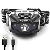 Foxelli USB Rechargeable Headlamp Flashlight - 180 Lumen, up to 40 Hours of...