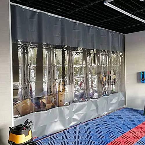 GDMING Tarea Pesada Transparente Empalme Impermeable Lona De PVC, Proteccion Solar Cortina Al Aire Libre para Kiosko Porche Pérgola, 50 Tamaños (Color : Claro, Size : 1.2x6m)