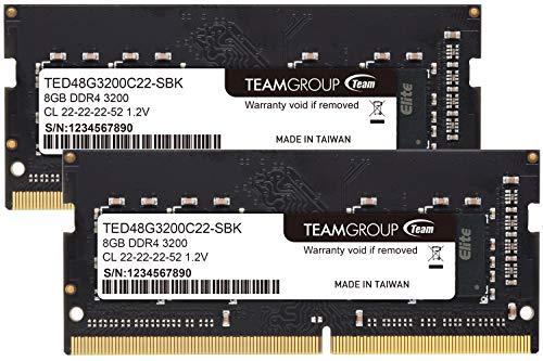 Team ノートPC用 SO-DIMM DDR4 3200MHz PC4-25600 8GBx2枚組 16GBkit 無期限保証