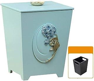 WWWXD Trash Can Garbage Poubelles Container, Recyclage Poubelle Poubelle Cabinet, Cuisine en Bois Corbeilles Espace Saver ...