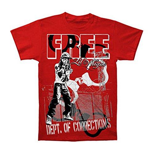 Lil Wayne Men's Lockdown T-Shirt X-Large Red
