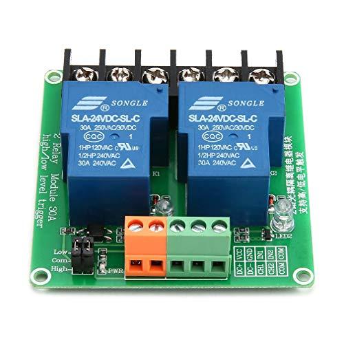 Carte de Module de Relais /à 2 Canaux Keenso Carte dExtension de D/éclenchement de Bas Niveau avec Optocoupleur pour Arduino 5V 24V 12V 12V