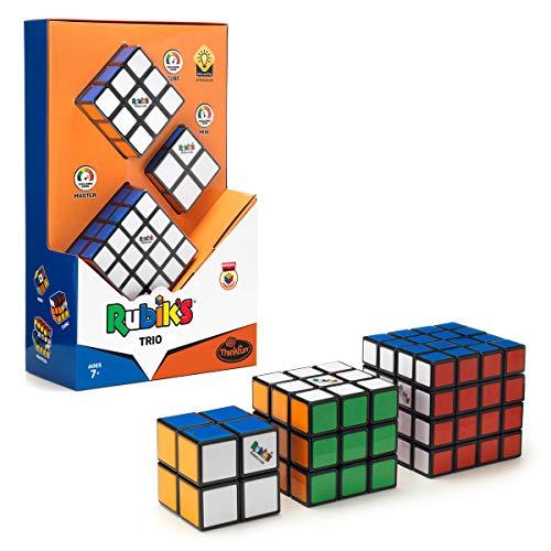 ThinkFun- Juego Trio, el Set Fans Incluye Master 4x4, el Cubo mágico Original de Rubik 3x3 y el Mini 2x2 de Rubik'S (76422)