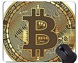 Yanteng Alfombrilla de Goma Antideslizante para Juegos, Alfombrilla de ratón Money Bitcoin Paper Money Office