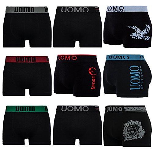 Conjunto L&K de 5 o 10 calzoncillos boxer de microfibra YHUVA3 para...