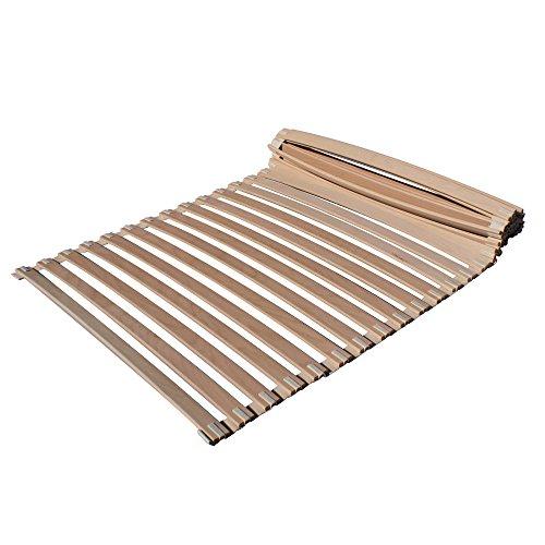 Lattenrost 90 x 200 cm rollbar | Flexibler Rollrost mit Federholzleisten aus Buchenholz (28 Federleisten) | metallfrei | Bio Bettrost mit Baumwollband