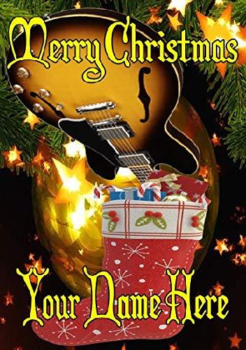 Semi Akoestische Gitaar Voorraad nxc116 Vrolijk Kerstmis Kerstkaart A5 Gepersonaliseerde Wenskaarten Geplaatst door de VS Geschenken voor Alle 2016 uit Derbyshire UK