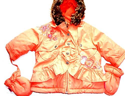 Pampolina Mädchen Winterjacke mit Handschuhen,apricot 11015 gr.68