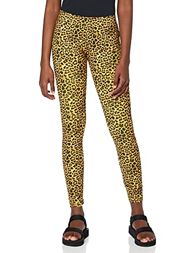 Urban Classics Damen Animal Print Leggings, Farbe Leo, Größe: S