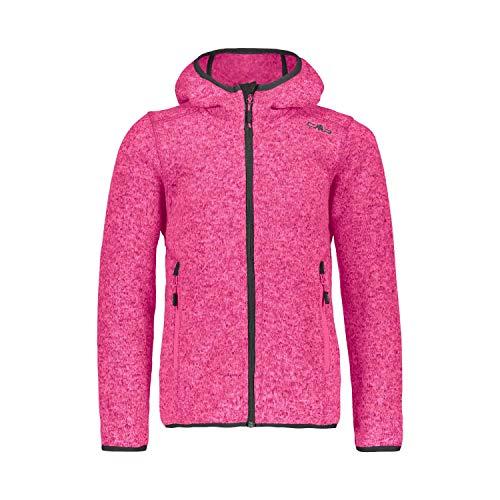 CMP Mädchen Girl Jacket Fix Hood Kapuzenjacke, Bouganville-Antracite, 152