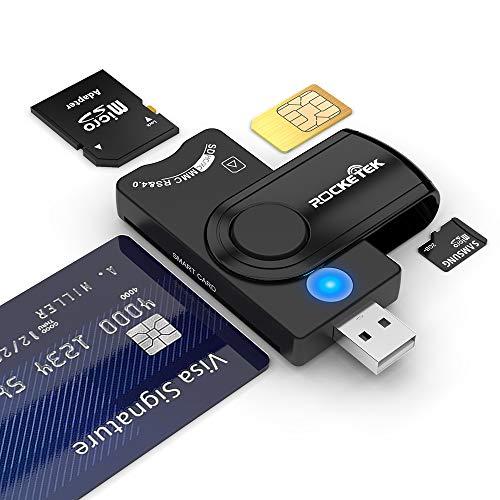 Lettore di smart card USB 4 porte Hub USB,Rocketek DOD USB...