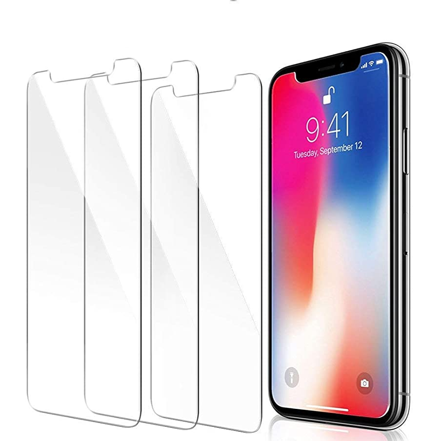 Yoyamo 2019 New Version iPhone XR Screen Protector, [3 Pack] Y059 Clear Tempered Glass Screen Protector 3D Touch Screen Protection Case for Apple iPhone XR