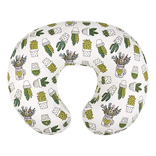 ALVABABY Nursing Pillow Cover Slipcover 100% Organic Cotton Soft and Comfortable Feathers Design Maternity Breastfeeding Newborn Infant Feeding Cushion Cover Baby Shower Gift ZT-Z15