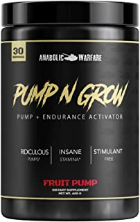 Pump-N-Grow Muscle Pump and Nitric Oxide Boosting Supplement by Anabolic Warfare * - Caffeine Free Pre Workout with L-Citr...
