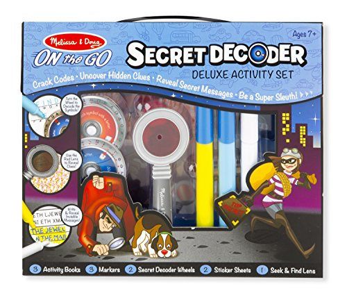 Melissa & Doug On the Go Secret Decoder Deluxe Activity Set and Super Sleuth Toy