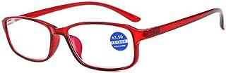نظارات قراءة TR90 نظارات واقية ضد الأزرق نظارات قراءة عصرية مناسبة لجميع أشكال الوجه للرجال والنساء (اللون: أحمر، الحجم: +...