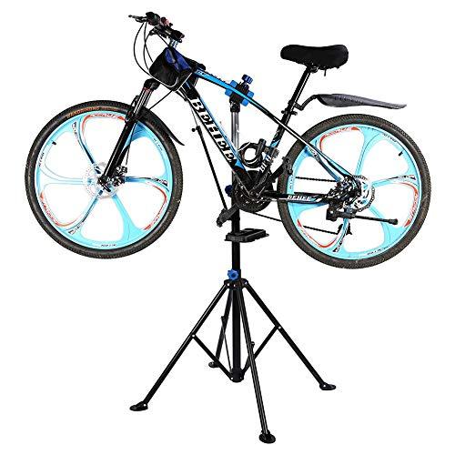 Ejoyous Fahrradmontageständer 50 kg Belastbar, Klappbar und Höhenverstellbar Fahrradmontageständer, robuster Fahrradständer, Schwarz für Fahrradreparatur, Belastbar bis 50kg