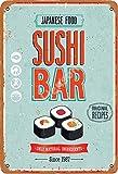 No/Brand Japanse Food Sushi Bar Metall Blechschild Retro