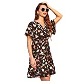 NOBRAND Vestido de Las Mujeres Europeas y Americanas Florales de Gasa de la Moda 2020 Vestido de Vacaciones de Ocio Retro Dulce