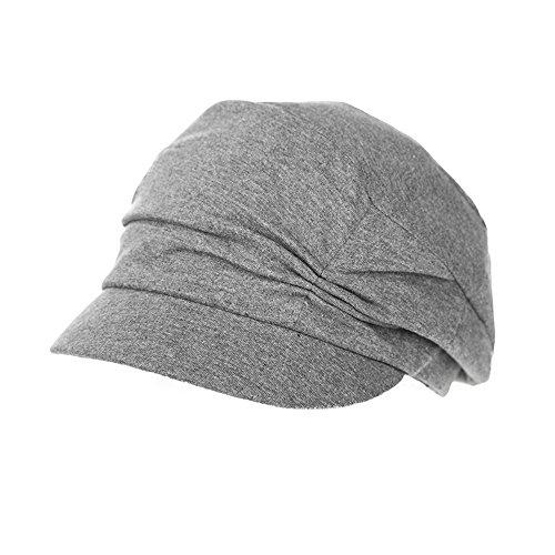 Comhats Schirmmütze Barett Mütze Damen mit Visor Damenmütze Sommer grau
