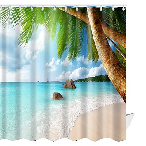 beach scene shower curtain - 3