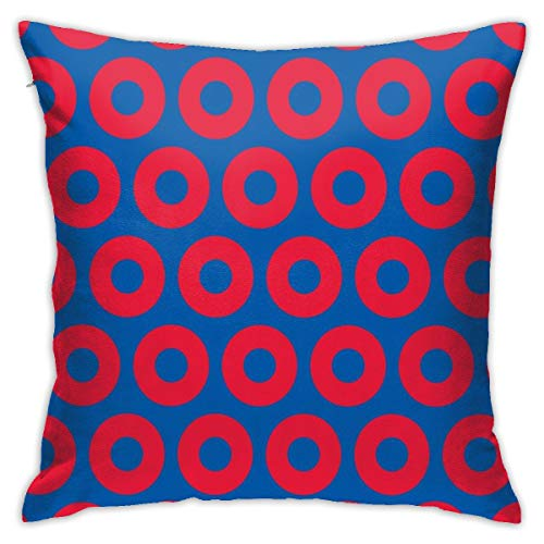 ULQUIEOR Phish Circles Throw Pillow Covers Square Decorative Pillow Case Cushion Case for Sofa Couch Bed Car Gift 18x18 Inch