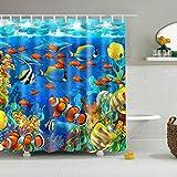 xkjymx Hermosa Playa Colgante Estrellada Galaxy Redondo Tapices Cortina Animales de Tortuga submarina Impermeable A Prueba de Moho
