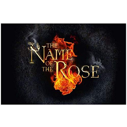 Sjkkad The Name Of The Rose New Art Tv Series Art Print Poster Light Canvas Decoración de la pared Impresión en lienzo -20X30 pulgadas Sin marco
