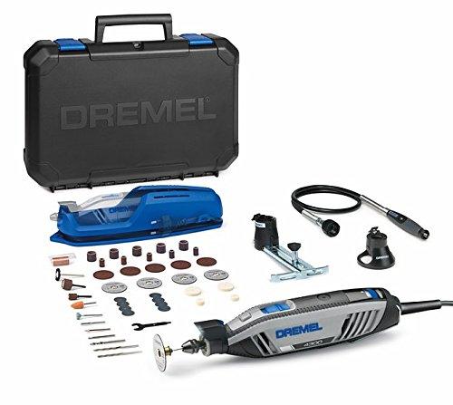 Dremel 4300-3/45- Multiherramienta (175W, rango de sujeción 0. 4–3.4mm, flexible de adoquines onda, 45piezas accesorios, 230V) color gris, azul, negro