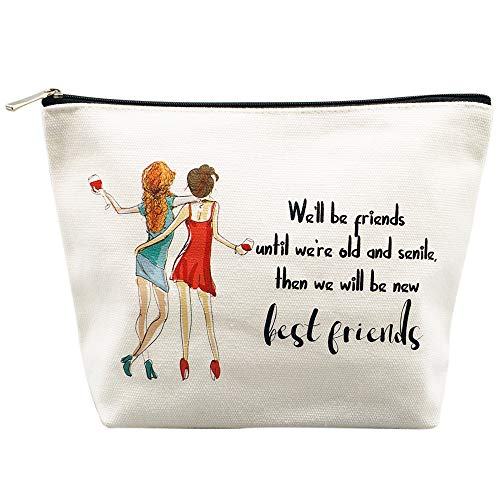 Best Friend Gifts Friendship Gifts Unique Gifts for Women Personalized Gifts Makeup Bag Pouch