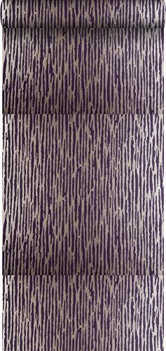 behang camouflage donker paars - 307104 - van Origin - luxury wallcoverings