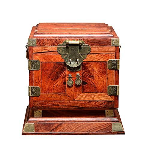 Großer hölzerner Schmuckschrank, hölzerne Schmuckorganisatoren Extra große extra Ringkette Geschenkaufbewahrungsbox mit Spiegel