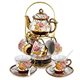 RUXINGGU, 20pcs Increased size, Tea set,afternoon tea set Tea set, Adult tea set,Ceramics Tea set