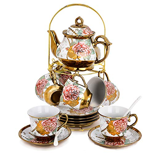 RUXINGGU, 20pcs Increased size, Tea set,afternoon tea set Tea set, Adult tea set,Ceramics Tea set (Kitchen & Home)
