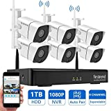 [Newest]Security Camera System Wireless, Firstrend 8CH 1080P