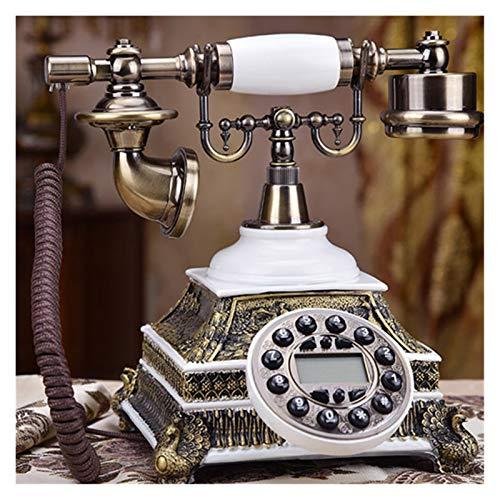WSZMD Teléfono Pared Retro Teléfono Fijo Retro Vintage Casera Casera Cableada Lechodo Autoráneo Oficina Antigua Blanco Teléfono Rojo Cualquier Llamada Teléfono Retro (Color : W Canvas Line)
