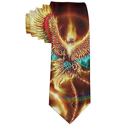 Herrenmode Krawatte Abstact Flaming Phoenix Bird Wings Krawatte Polyester Krawatte