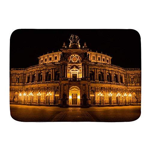 Mata łazienkowa, Opera House barokowa architektura Niemcy Drezno Arkady Pilastry taras przyciemniane światła. JPEG, pluszowe maty łazienkowe z antypoślizgowym spodem