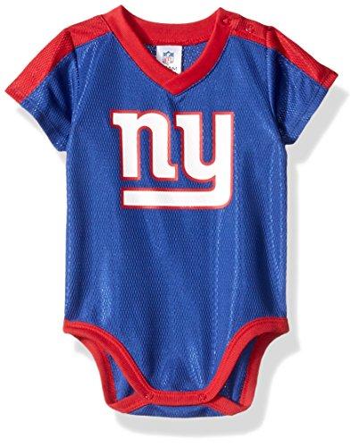 Gerber Childrenswear NFL New York Giants Boys Dazzle Bodysuit, 6-12 Months, Blue
