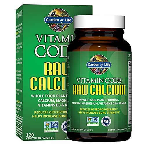 Garden of Life Raw Calcium Supplement for Women and Men - Vitamin Code...