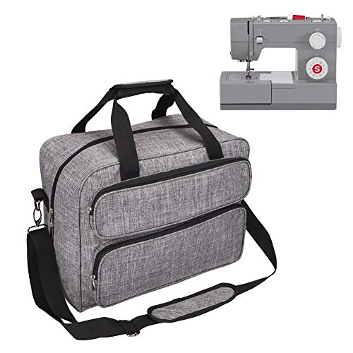 Sewing Machine Carrying Case,Heavy Duty 600D Oxford Sewing Machine Carrying Tote Bag with Shoulder Strap Compatible with Most Standard Singer, Brother, Janome(Grey) -  ZhouLang, 2008GJB1072GRAJ01