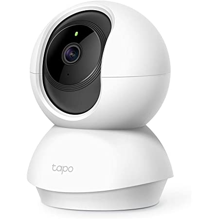 TP-LINK Tapo Wi-Fi Pan/Tilt Smart Security Camera, Indoor CCTV, 360° Rotational Views, Works with Alexa, No Hub Required, 1080p, 2-Way Audio, Night Vision, SD Storage, Device Sharing(Tapo C200)