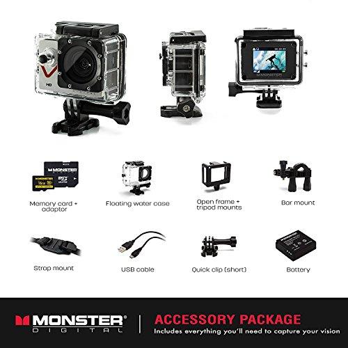 "Monster Digital Monster Vision Digital Camcorder - 1.7"" LCD - HD"