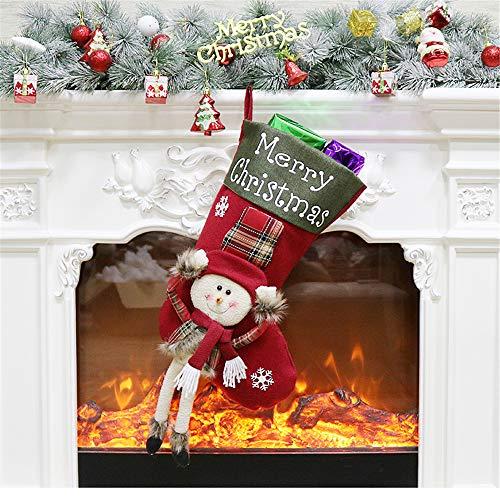 SONGHJ Árbol De Navidad Colgante Regalo Infantil Bolsa De Dulces Escena Vestir Decoraciones Navideñas