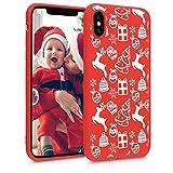 Pnakqil Funda iPhone SE 2020 Funda iPhone 7 / iPhone 8 Roja Silicona con Navidad Dibujos Suave Carcasa Antigolpes TPU Case Cover Apple iPhone7 / 8 / SE 2020, Navidad