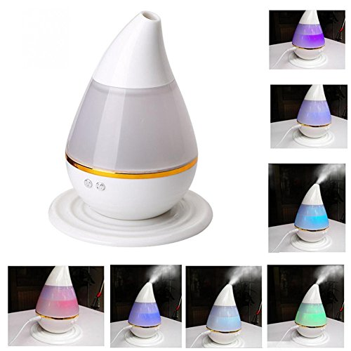 %57 OFF! TRADE 250ML Waterless Auto Shut-Off and Adjustable Mist Mode Ultra-Low Mute Water Droplets Shape 7 Colour Changing Ultrasonic Cool Mist Purifying Air Humidifier for Home Bedroom Baby Room
